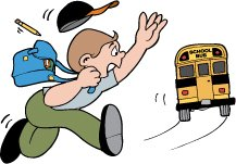 Miss The Bus Clipart.