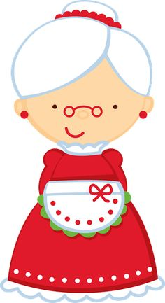 Santa claus and misses clause clipart.