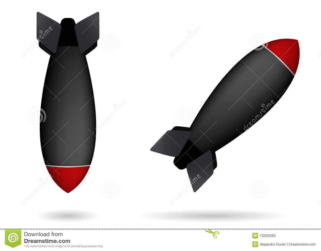 Nuclear Missiles Clipart.