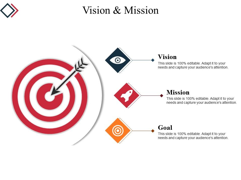 Vision And Mission Powerpoint Slide Clipart.