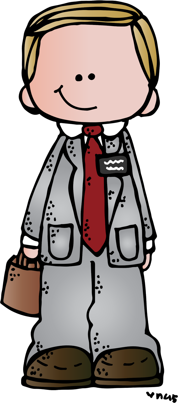 Missionary clipart green tie, Missionary green tie.