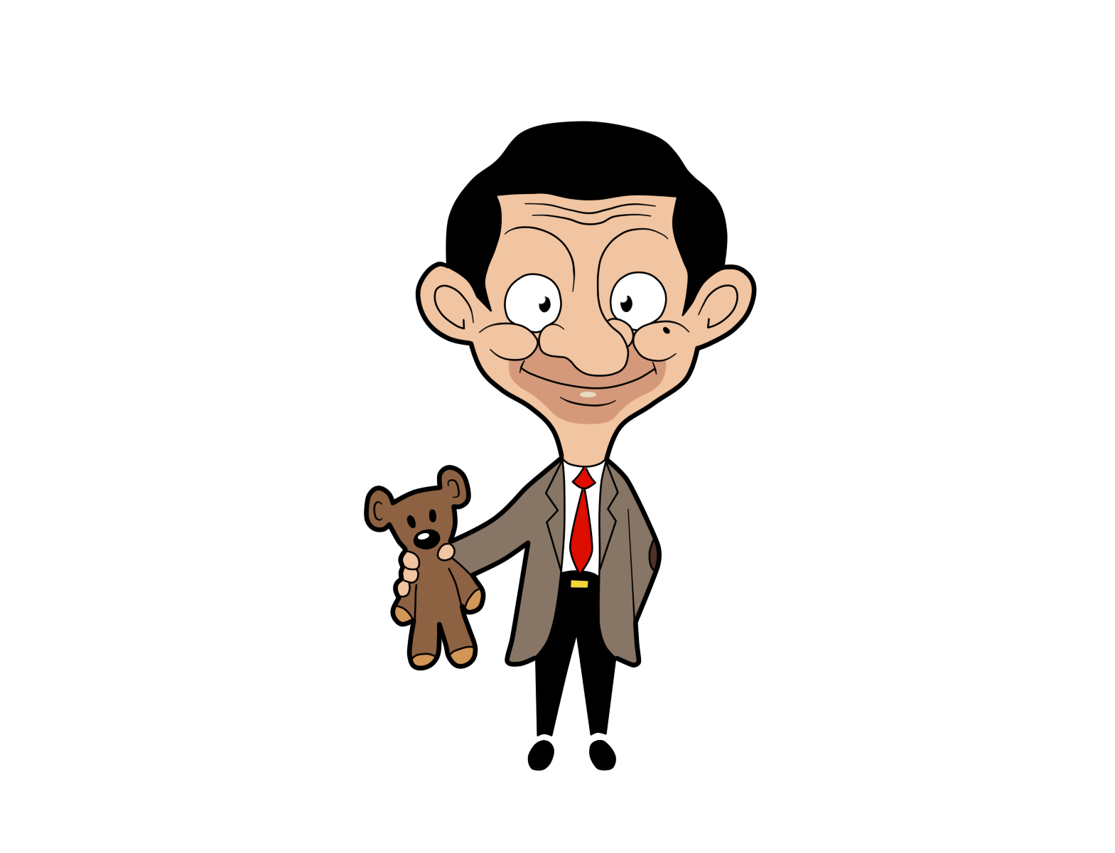 Mr Bean Teddy Clipart.