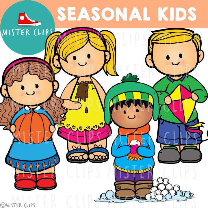 Seasonal Kids FREEBIE {Mister Clips Clipart}.