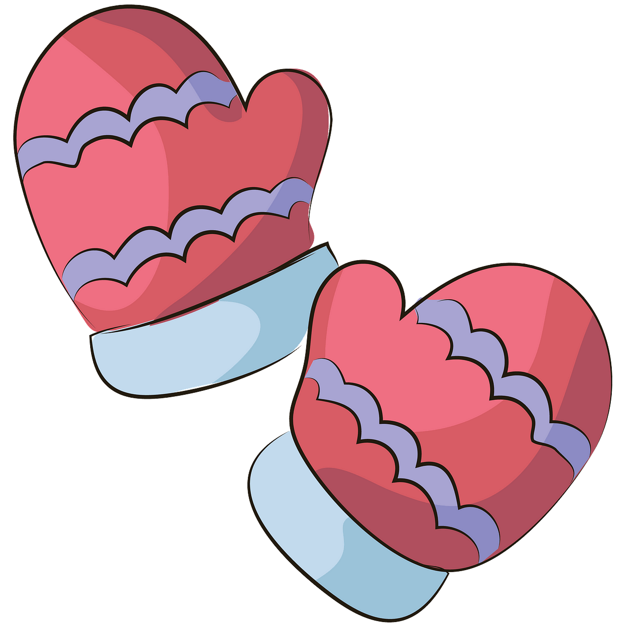 Mittens clipart. Free download..