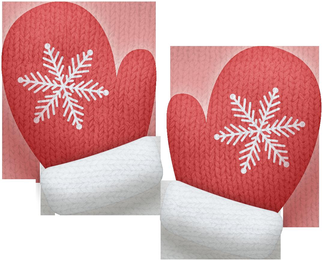 Christmas clip art mitten.