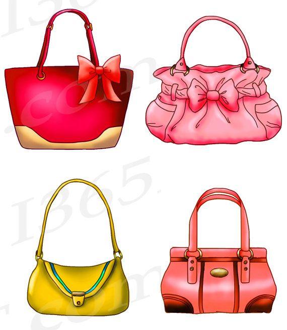 Handbag Clipart, Purse Clipart, Clip art, Designer Bags.