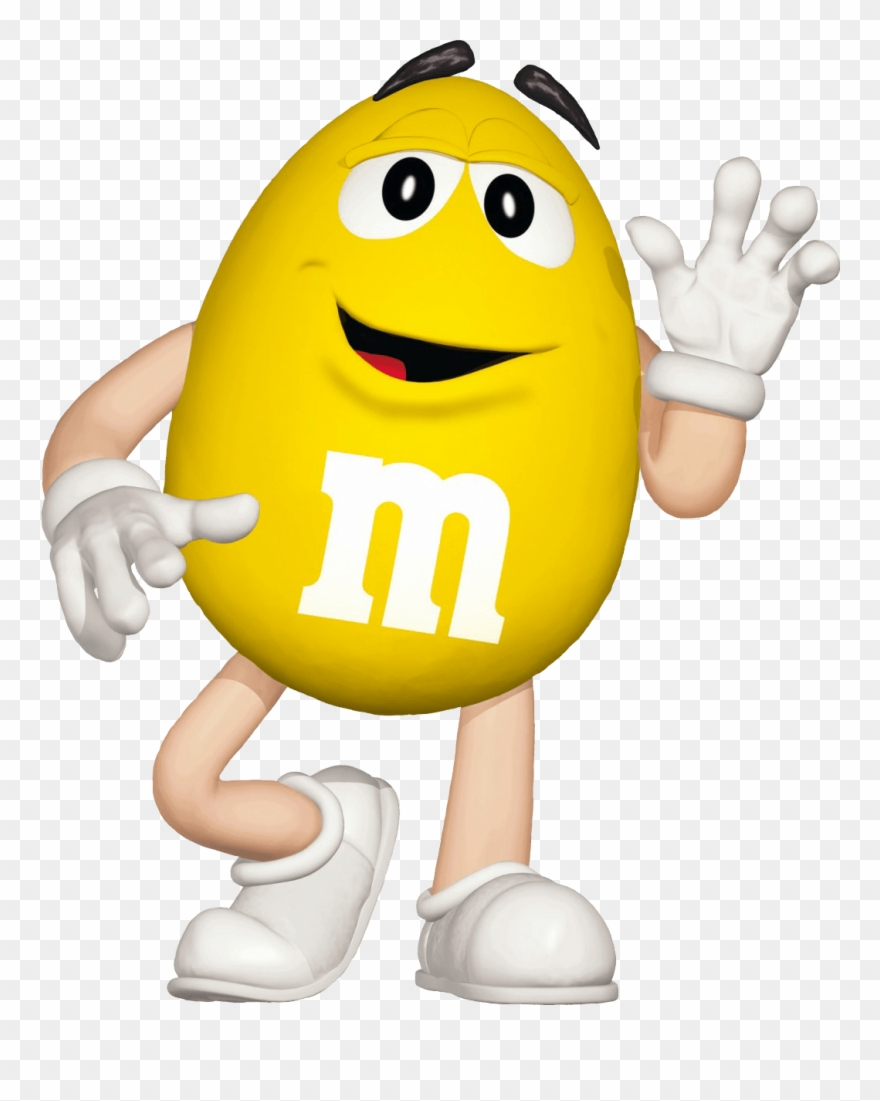 M&m Characters Yellow Clipart (#1090315).