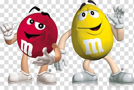 Yellow and red M&M , M&M\'s Dancing transparent background.