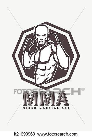 MMA fighter Clipart.