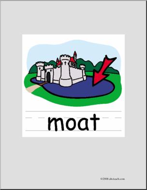 Clip Art: Basic Words: Moat Color (poster) I abcteach.com.