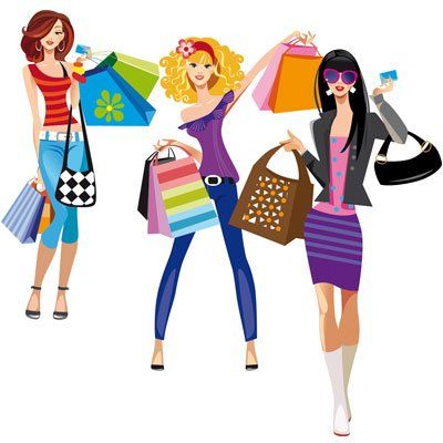 Three Fashion girls Clipart Picture Free Download.