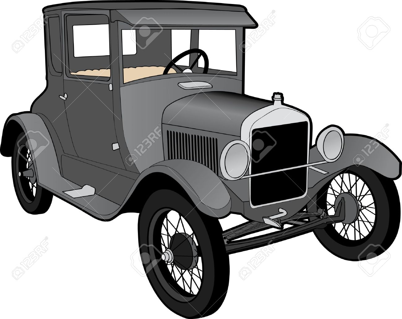 Ford Model T Clipart.