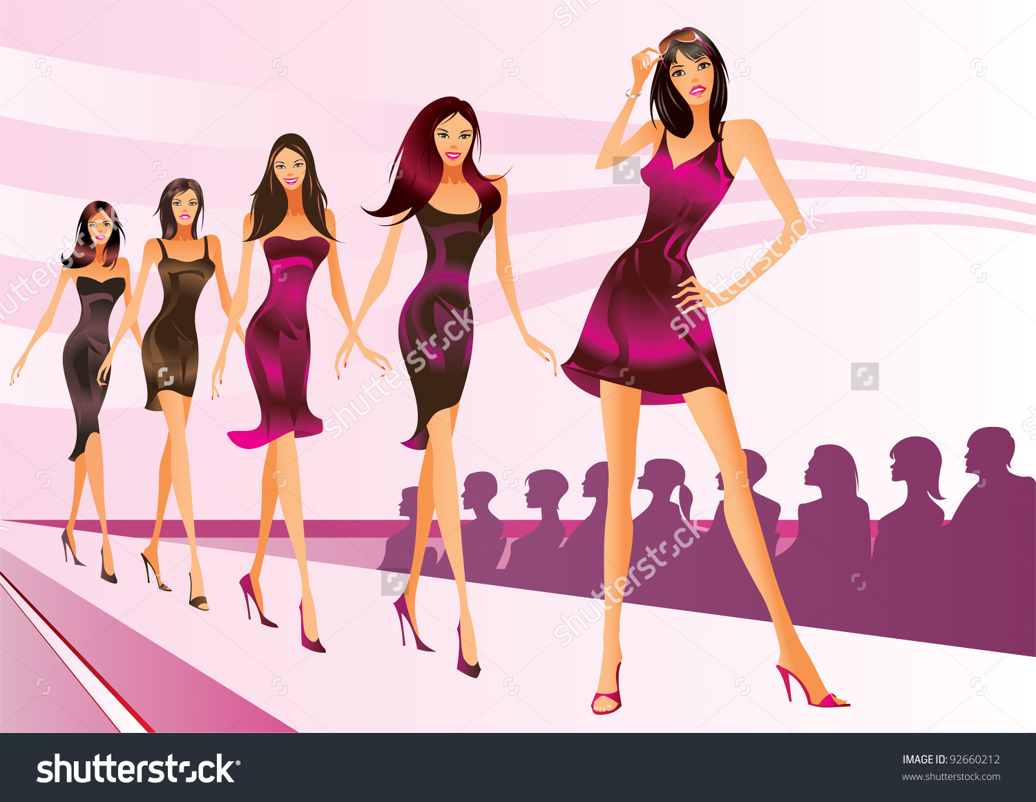 Showing post & media for Cartoon fashion show clip art.