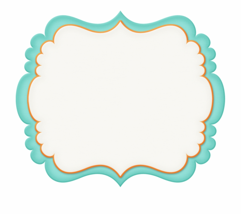 Label Clipart Turquoise.