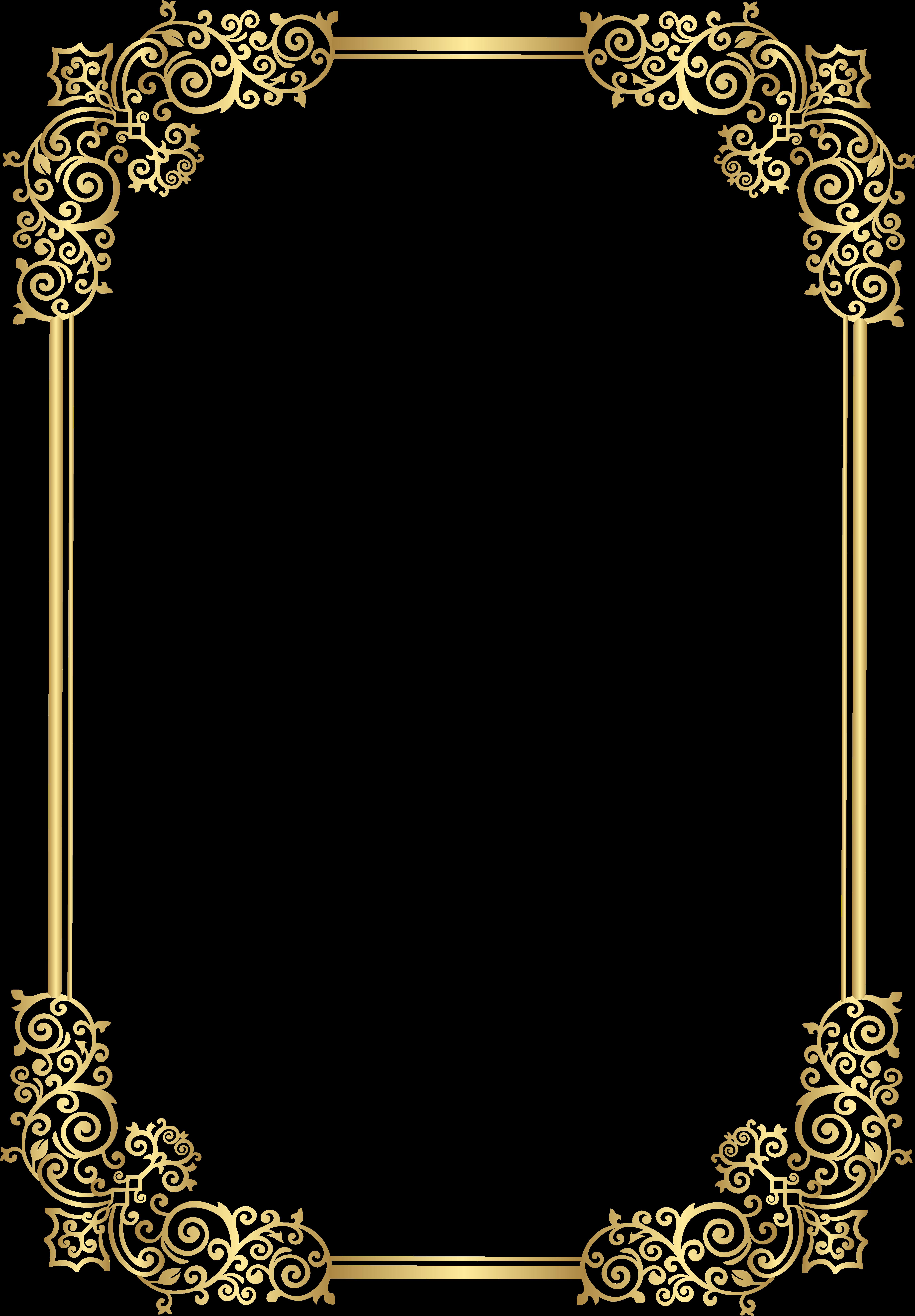 Border Decorative Frame Clip Art Png Image Moldura.