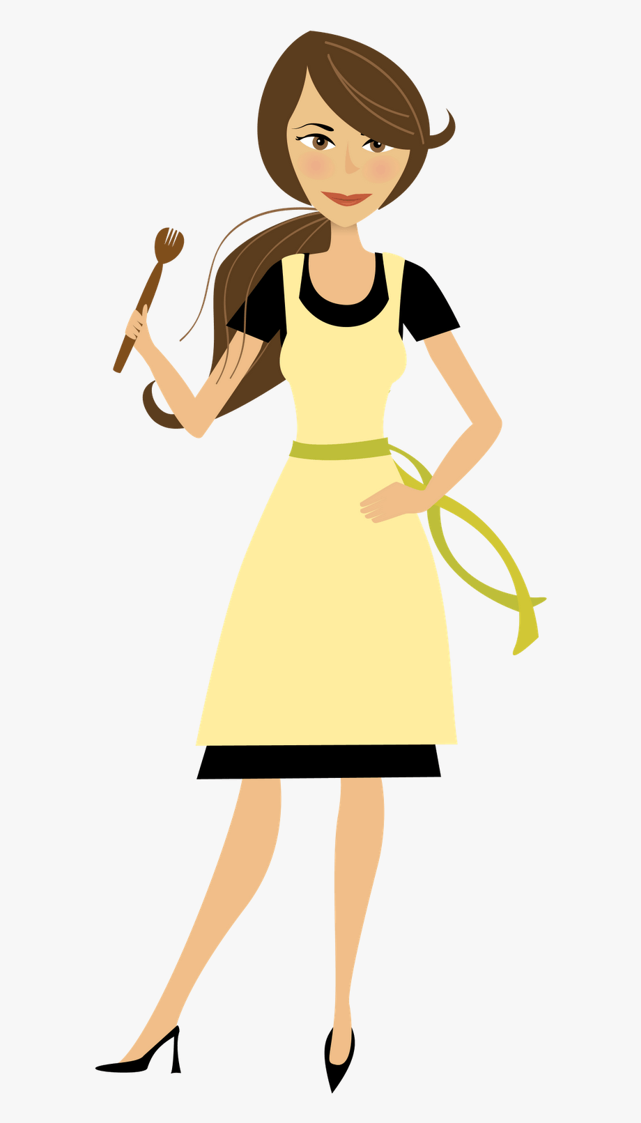 Cooking Mom Clipart.