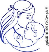 Mother Child Clip Art.