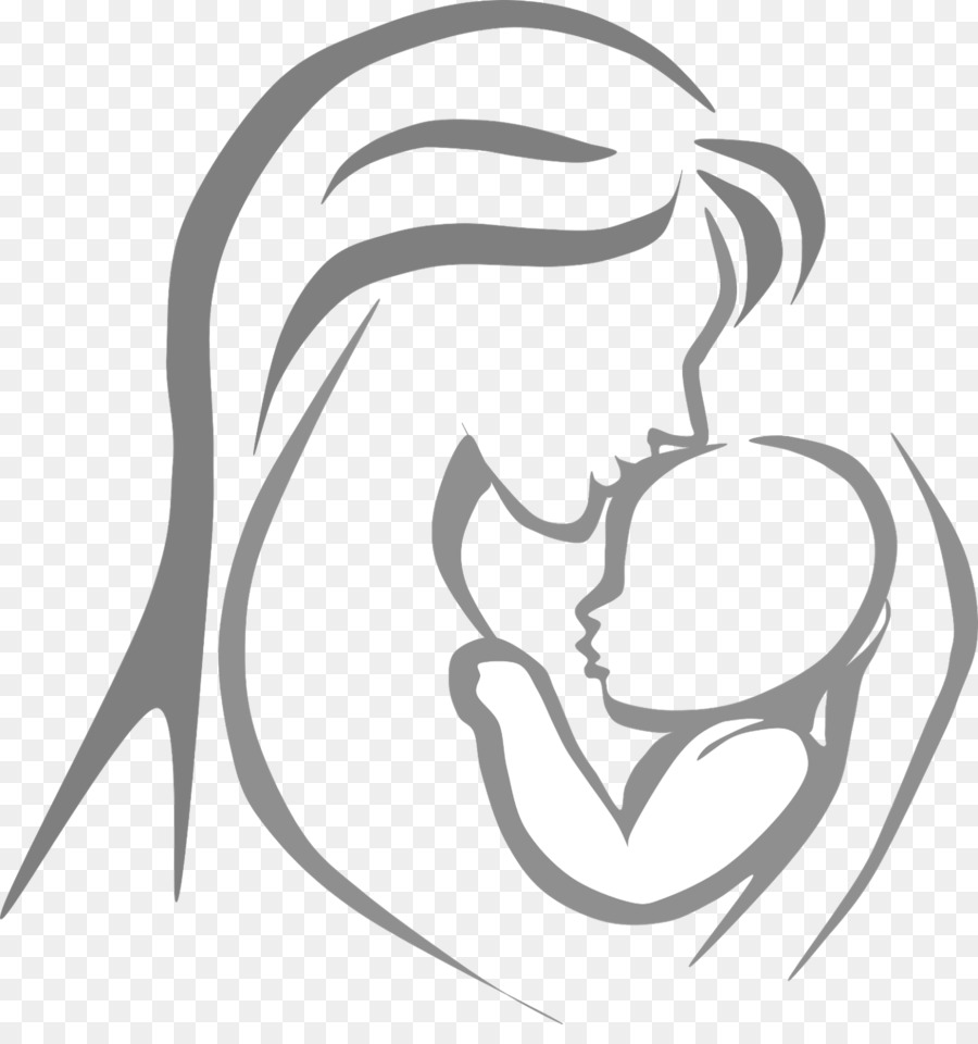 Mother Child Infant Clip Art.