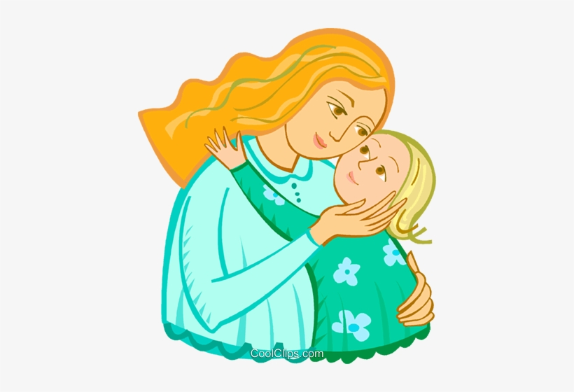 Mother And Child Royalty Free Vector Clip Art Illustration.