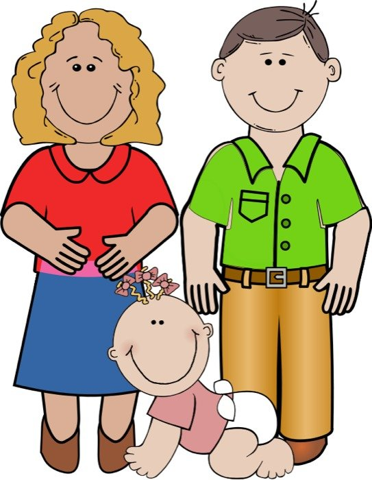 Family Mom And Dad Clip Art free image.