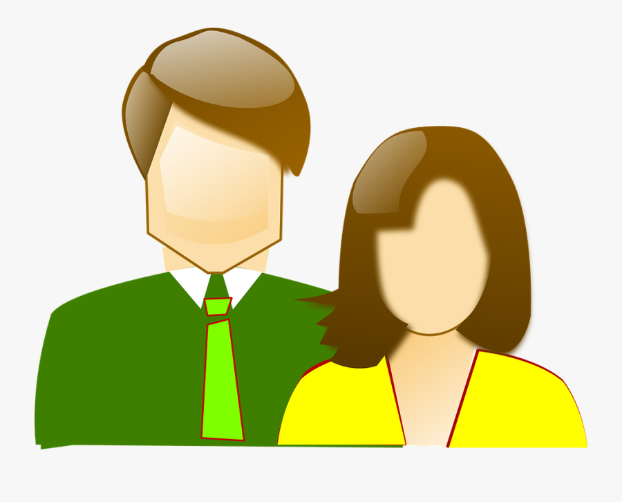 Couple Two Parents Clipart Mom And Dad.