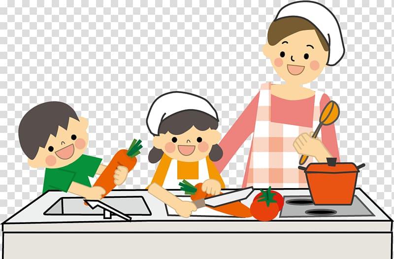 Cooking Cuisine Child Food, mom Cook transparent background.