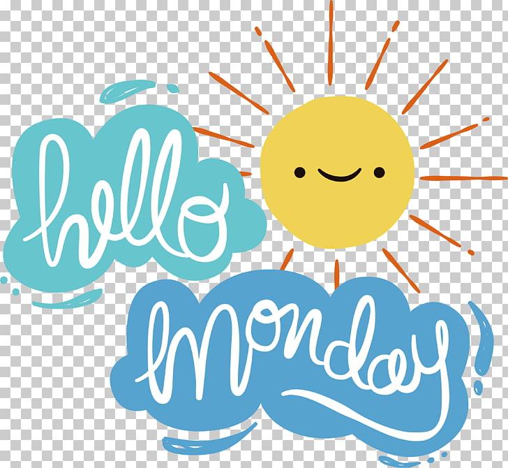 Euclidean , Smiling little sun, Hello Monday PNG clipart.