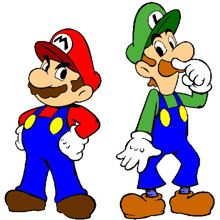 MARIO ET LUIGI : Coloriage Mario et luigi en Ligne Gratuit a.