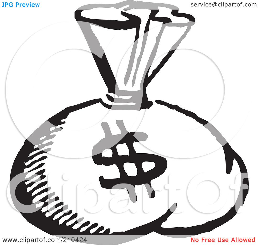 Money Clip Art Black And White.