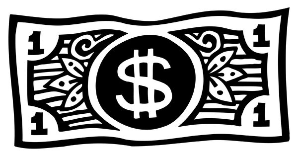 Money Bills Clipart Black And White.