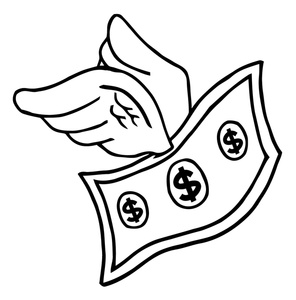 Dollar Bill Clip Art Black And White.