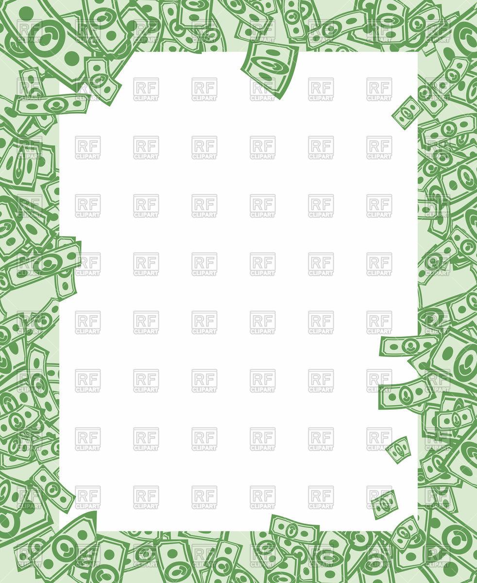 Free Money Border Clipart.