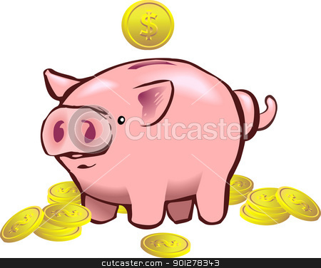 piggy bank moneybox stock vector.