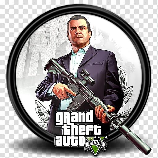 Grand Theft Auto V Game Icon, GTA _, GTA V game cover.