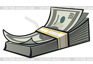 Cash money stack.
