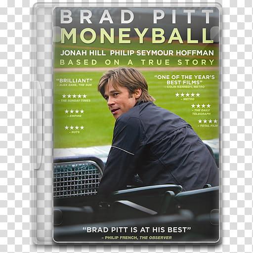 Movie Icon , Moneyball, Brad Pitt Moneyball DVD case.