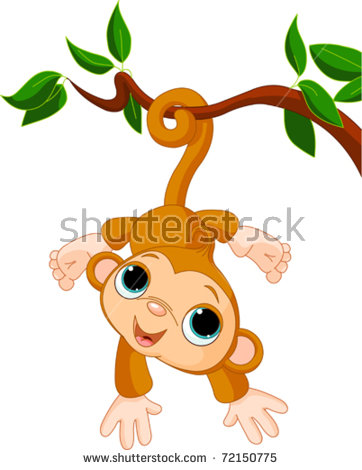 Monkey In Tree Stock Images, Royalty.