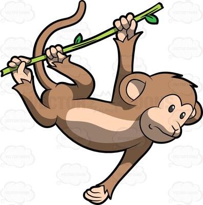 monkey kingdom Cartoon Clipart.