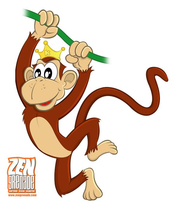 Monkey In A Tree Cartoon.