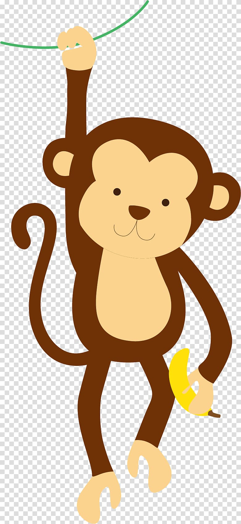 Brown monkey illustration, Giraffe Pony Monkey Cuteness.