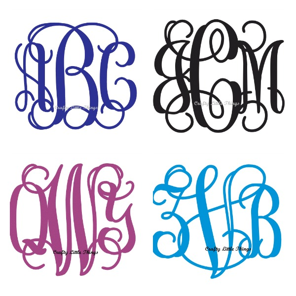connected monogram letters.