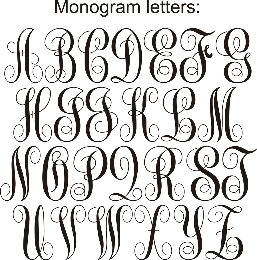Download Letter clipart Letter Template Monogram.