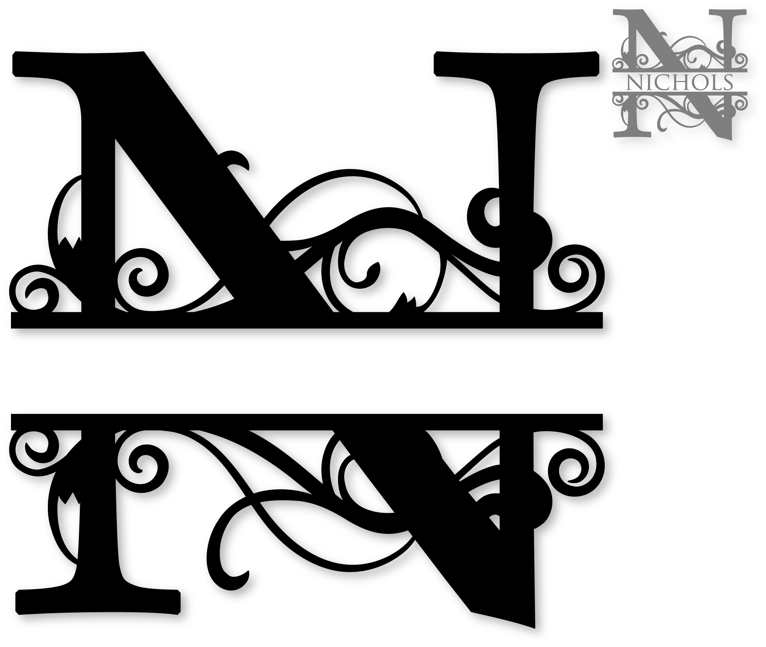 70+ Monogram Clipart.