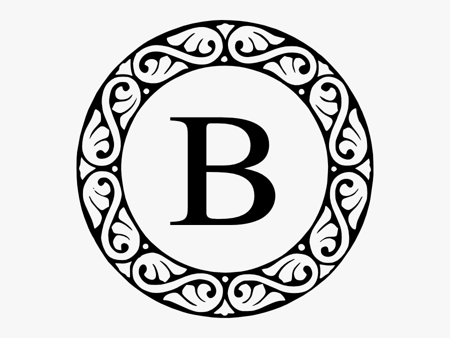Clip Art Fancy Letter B.
