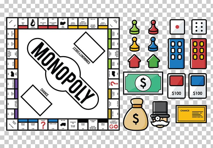 Monopoly Game PNG, Clipart, Brand, Cartoon, Diagram, Drawing.