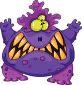 Halloween Monster Clip Art.