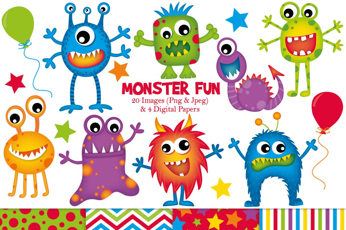 Monster clipart, Monster graphics & illustrations.