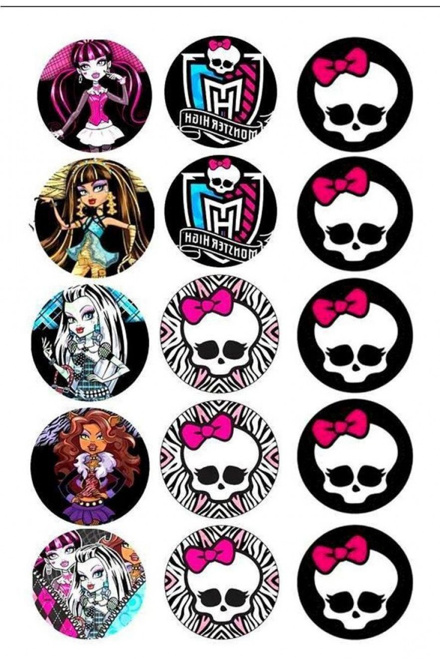 Neoteric Ideas Monster High Clipart Games Characters Cake.