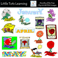 Months of the Year Clip Art.