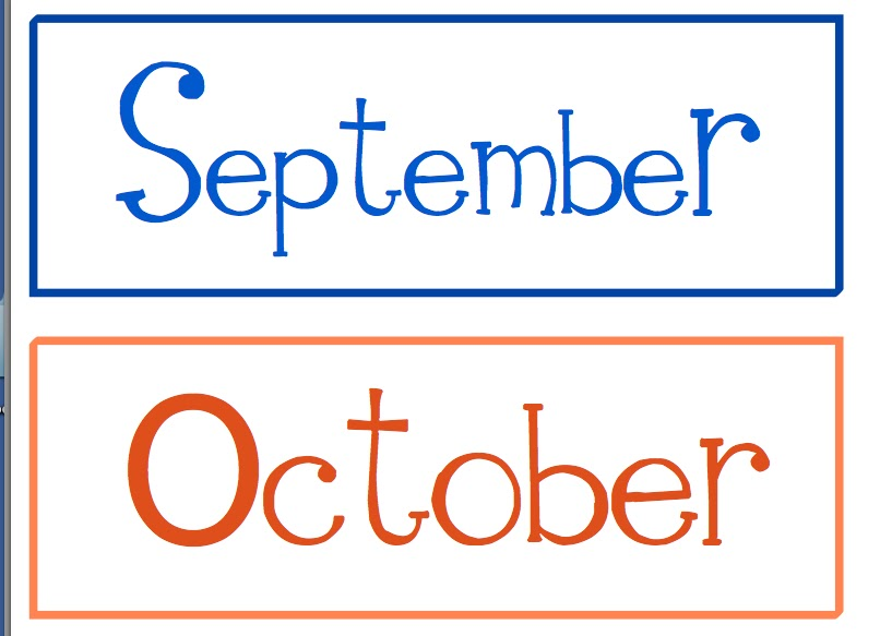 Months Of The Year Clipart.